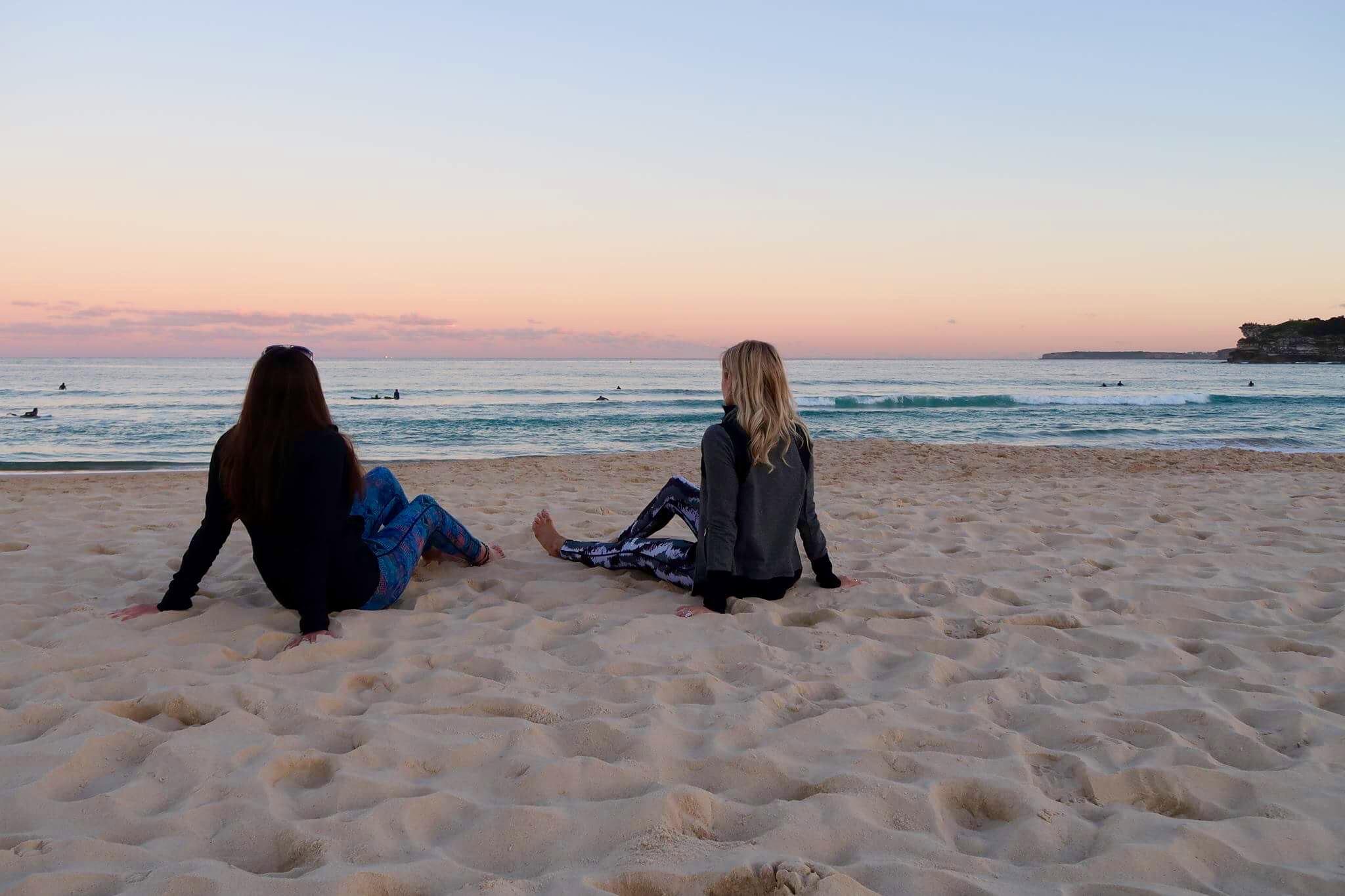 Winters sunset, Bondi Beach
