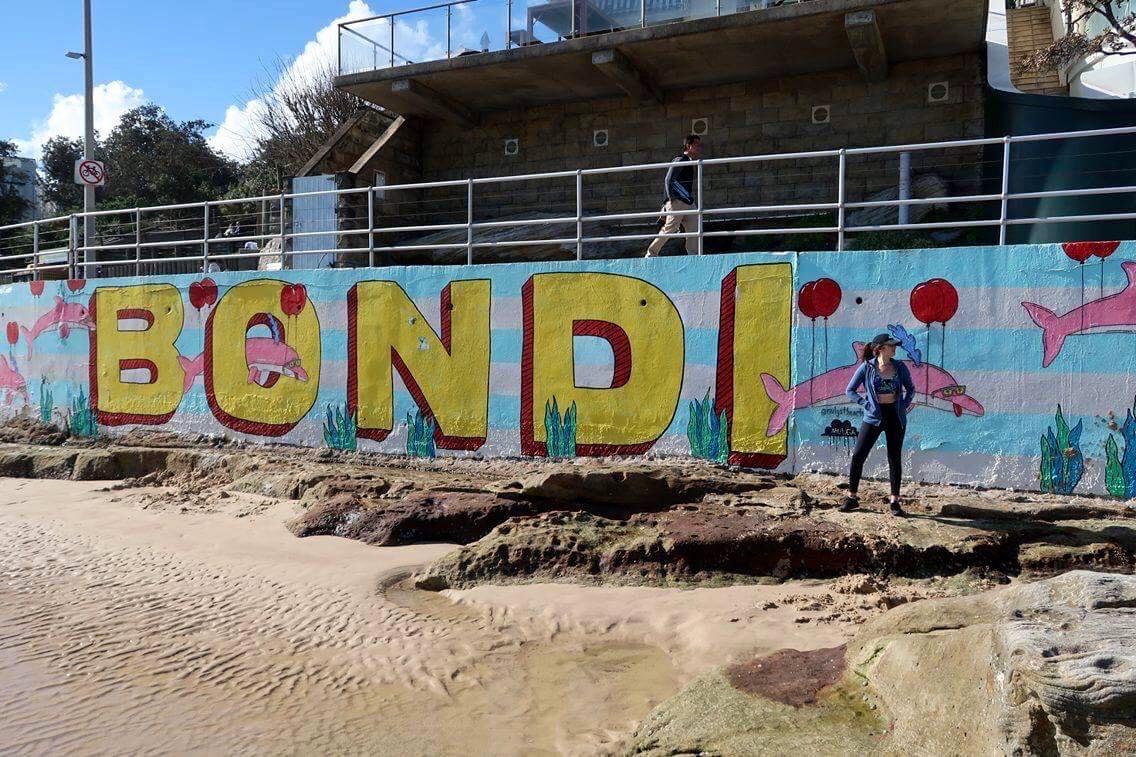 Wall art at Bondi Beach